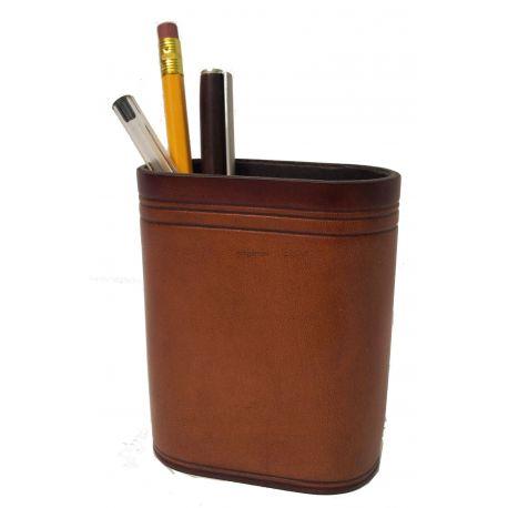 Pot à Crayons Cuir