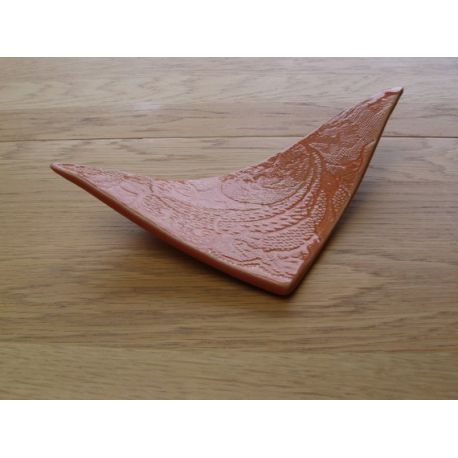 Porte savon triangle orange