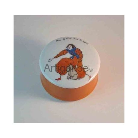 boite a tresors ronde pantin orange personnalisable