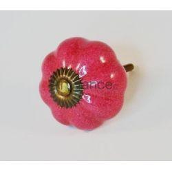 Bouton de tiroir fleur fushia