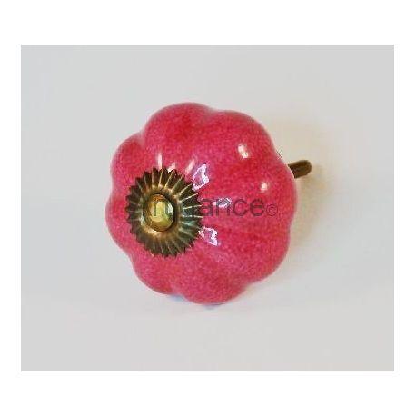 bouton de tiroir fleur rose