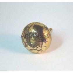 bouton de tiroir boule bleu or