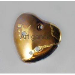 pendentif coeur perle or