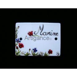 plaque de porte fleurs personnalisable