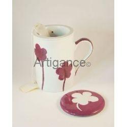tisaniere fleur prune
