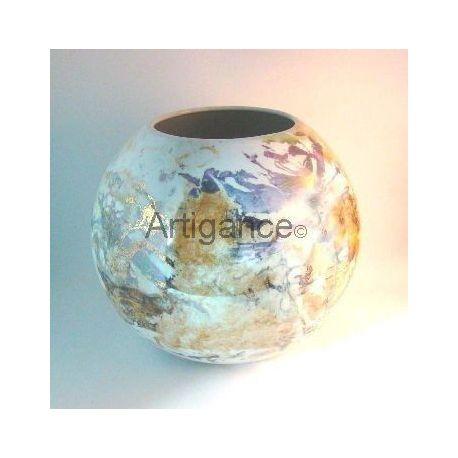 vase boule metaux precieux
