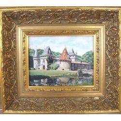 tableau Chateau de Lieu-Dieu