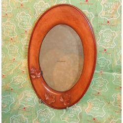 Miroir oval déco feuilles