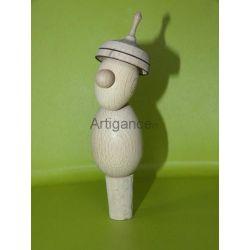 Bouchon de bouteille (bonhomme en bois)