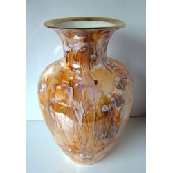 Vase aux tons chauds - collection Abstraction