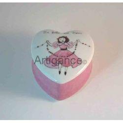 Boîte aux trésors coeur ballerine personnalisable