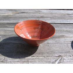 Coupelle Faïence rouge, décor bronze