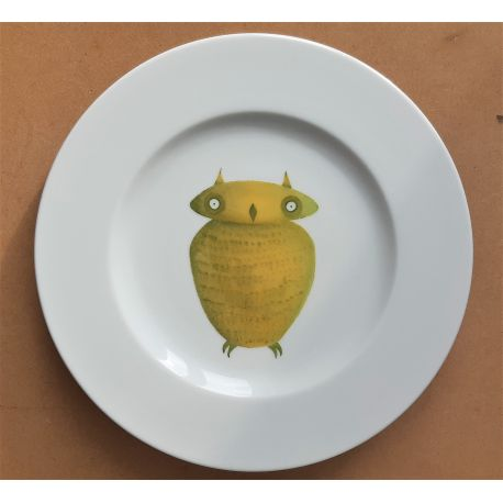 Assiette Chouette - Collection Z'animaux