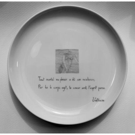 """Assiette Elise """"Plaisirs cachés"""""""