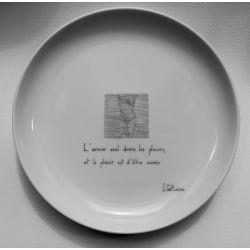 """Assiette Louise """"Plaisirs cachés"""""""