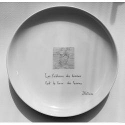 """Assiette Fanny """"Plaisirs cachés"""""""