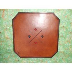 tapis de carte en cuir