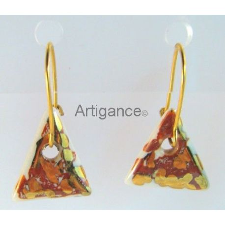 Boucles d'oreilles triangle métaux précieux