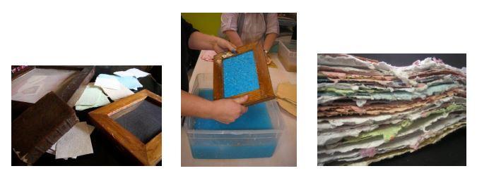 atelier fabrication de papier
