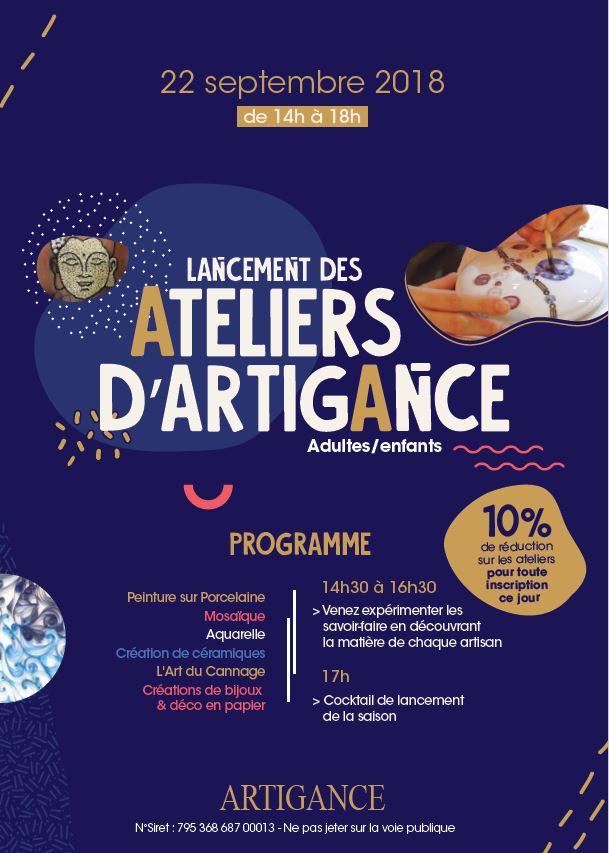Ateliers Artigance 22 septembre 2018