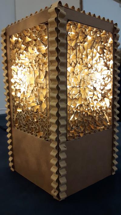lampe en carton - Sébastian Chantraine