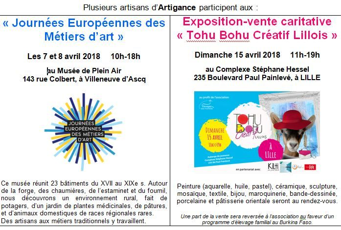 Journées des métiers d'art ET Tohu Bohu de Lille